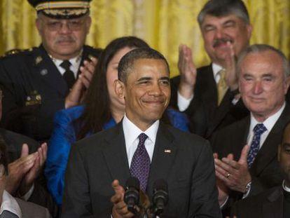 El presidente de EE UU durante su discurso en apoyo de la reforma migratoria.