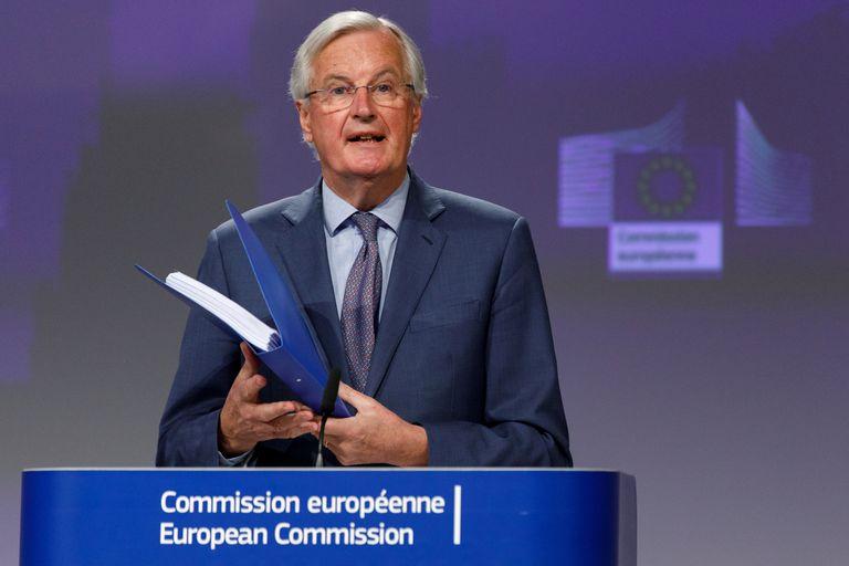 El negociador jefe europeo del Brexit, Michel Barnier, el pasado 24 de abril, en Bruselas.