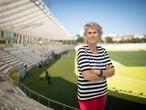 DVD 1061 Madrid 12/07/2021Paloma del rio, presentadora de deportes en el estadio de vallehermoso Foto: Inma Flores
