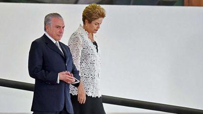 El vicepresidente Temer y la presidenta Rousseff.