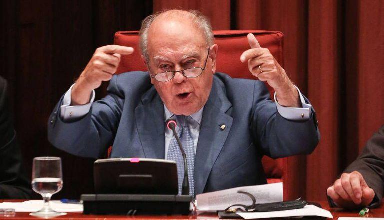 Jordi Pujol, durante su declaración en el Parlament en 2014.