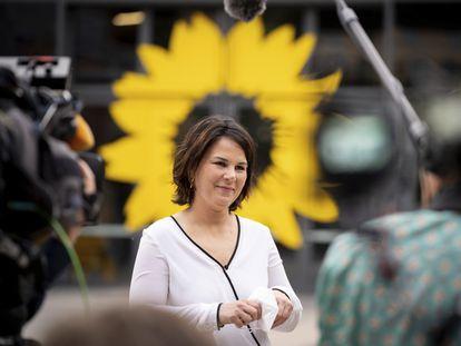 Annalena Baerbock, de Los Verdes, durante una entrevista, el pasado jueves.