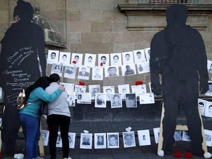 Manifestación por los desaparecidos este viernes en México.