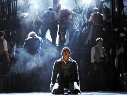 Una escena del musical  'Los miserables'.