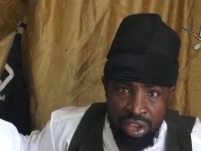 Abu Bakr Shekau, líder de una de las facciones de Boko Haram en una captura de vídeo.