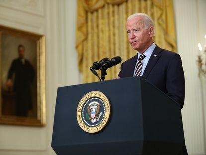 El presidente de Estados Unidos, Joe Biden, durante una comparecencia en la Casa Blanca.