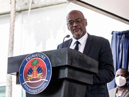 El primer ministro de Haití, Ariel Henry, el pasado julio en Puerto Príncipe.