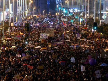 Manifestacion en Madrid el 8-M.