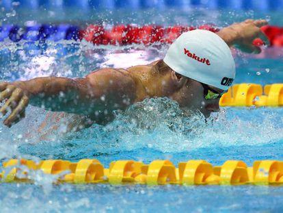 Tamas Kenderesi en la prueba de 200 metros mariposa el pasado miércoles en Gwangju.