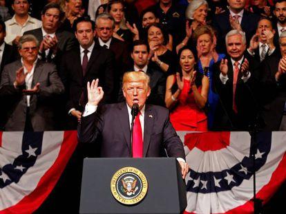 Donald Trump en Miami.