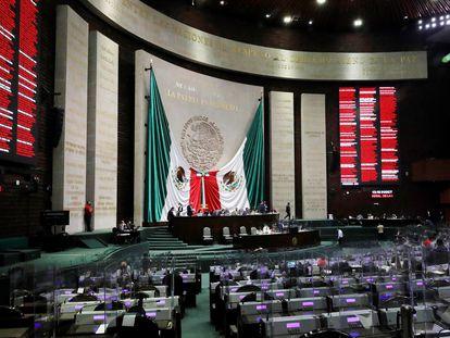 La sesión en la Cámara de Diputados del 7 de octubre de 2020.