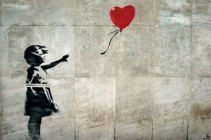 'Niña con el globo' de Banksy.