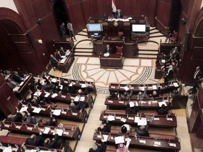 Reunión del comité que redacta el borrador constitucional, en El Cairo.