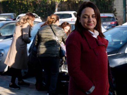 Rocío Rodríguez este lunes antes de declarar en los juzgados.
