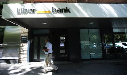Una oficina de Liberbank en Madrid