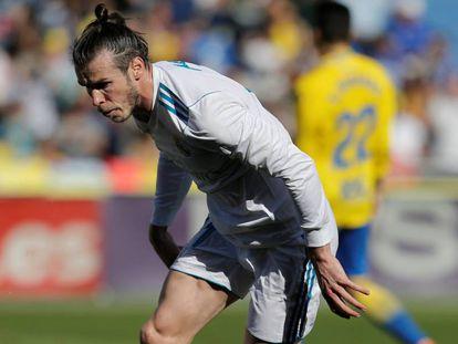 Bale, tras anotar el primer gol.