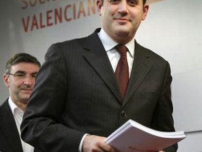 Jorge Alarte, en la sede del PSPV-PSOE.