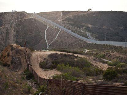 El muro que separa México de Estados Unidos en Tijuana.