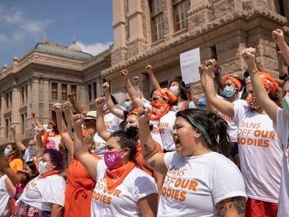 Protesta de mujeres el pasado 1 de septiembre en Austin, Texas, por la prohibición de abortar.