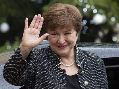 La nueva directora gerente del FMI, Kristalina Georgieva, a mediados de diciembre en París.