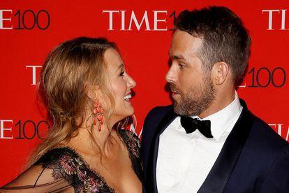 Ryan Reynolds y Blake Lively en una fiesta en Manhattan, Nueva York, en abril de 2017.