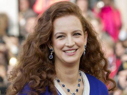 La princesa Lalla Salma de Marruecos en la boda del princípe Guillermo de Luxemburgo en 2012.