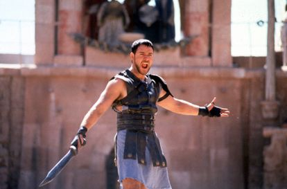 Russell Crowe in 'Gladiator', in the year 2000