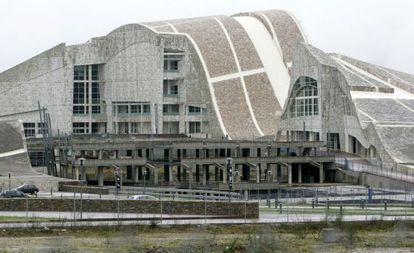 Obras en el Palacio de la Ópera, en la Cidade de la Cultura de Santiago.