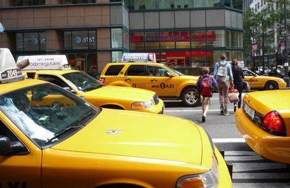 Nueva York tiene una flota de taxis de 13.000 vehículos.