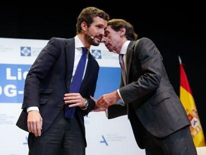 Pablo Casado y José María Aznar, el pasado enero.