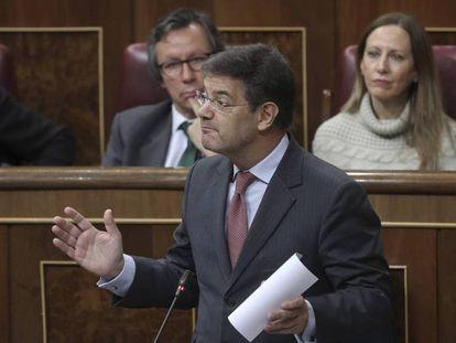 El ministro de Justicia, Rafael Catalá, en una reciente sesión de control del Gobierno. En vídeo, las declaraciones de Catalá en Cadena Cope.