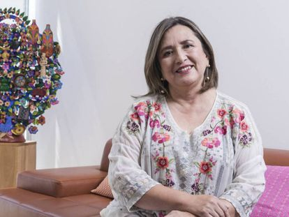 Xóchitl Gálvez, senadora del Partido Acción Nacional, en su oficina del Senado mexicano.