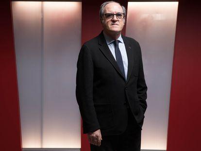 Ángel Gabilondo, en la sede del PSOE este sábado.