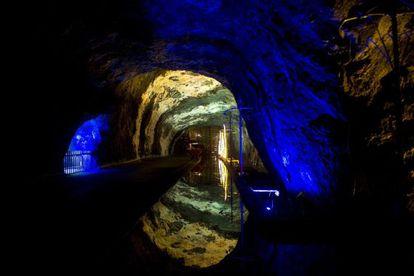 Interior de una mina en Cundinamarca, Colombia