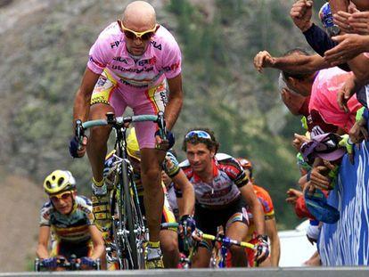 Pantani, en el Giro de 1999.