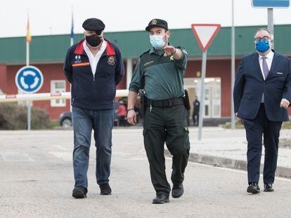 El comisario Villarejo abandona la cárcel de Estremera el pasado miércoles.