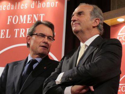 Artur Mas y Joaquim Gay de Montellà, presidente de Foment.