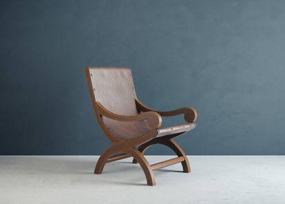 Butaque 'Miguelito' que Clara Porset diseñó para el arquitecto Luis Barragán.  