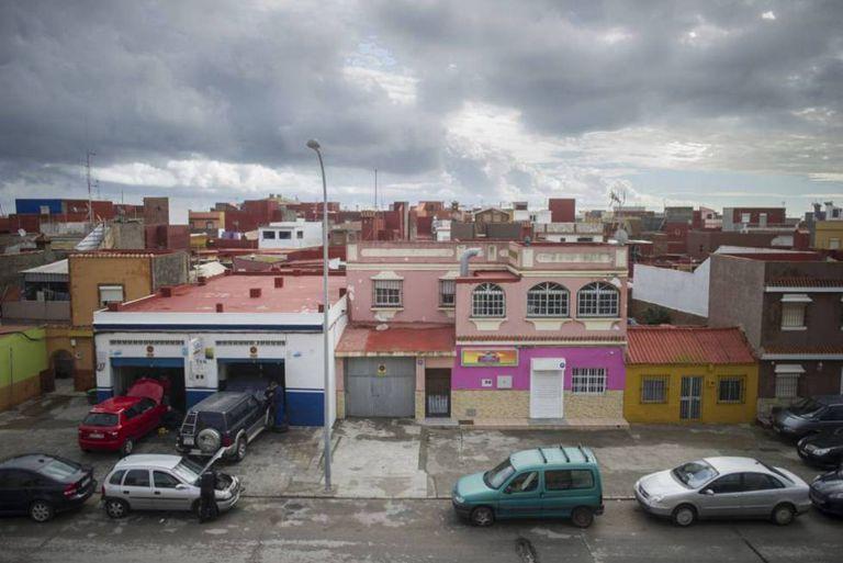 Casas de La Línea de la Concepción, en una imagen de archivo.