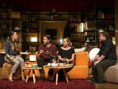 De izquierda a derecha, Candela Peña, Andrew Tarbett, Pilar Castro y Xavi Mira.