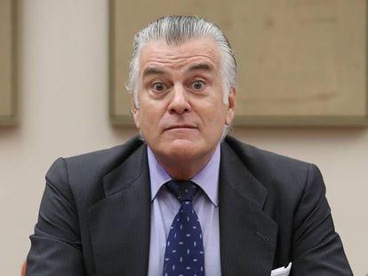 Luis Bárcenas, en la comisión de investigación sobre la financiación del Partido Popular, en 2017.