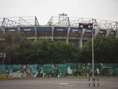 Los murales del Estadio Azteca que cuentan la historia del recinto.