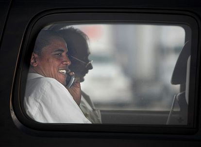 Barack Obama, el viernes en Dulles, Virginia.
