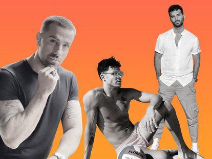 """Rafa Mora, Kiko Jiménez y Suso Álvarez. Los tres son famosos en televisión y en las redes y han pasado por el """"trono"""" del programa 'Mujeres y hombres y viceversa', estableciendo un nuevo cánon de masculinidad y estilo que, al igual que sus perfiles de Instagram, siguen cientos de miles de jóvenes españoles."""
