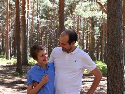 Álvaro y su hijo con discapacidad, Alvarete.