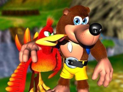 Los protagonistas del clásico videojuego 'Banjo y Kazooie'.