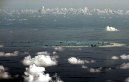 Un arrecife en las islas Spratly fotografiado el pasado 11 de mayo.