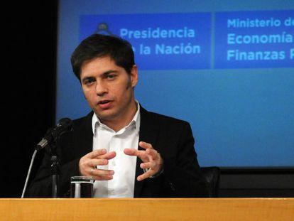 El ministro de Economía argentino, Axel Kicillof