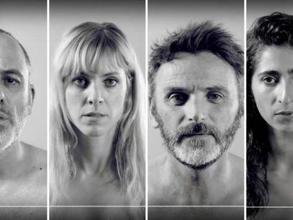 Javier Gutiérrez, Maggie Civantos, Fernando Tejero y Alba Flores, en la campaña para visibilizar la Piel de Mariposa.