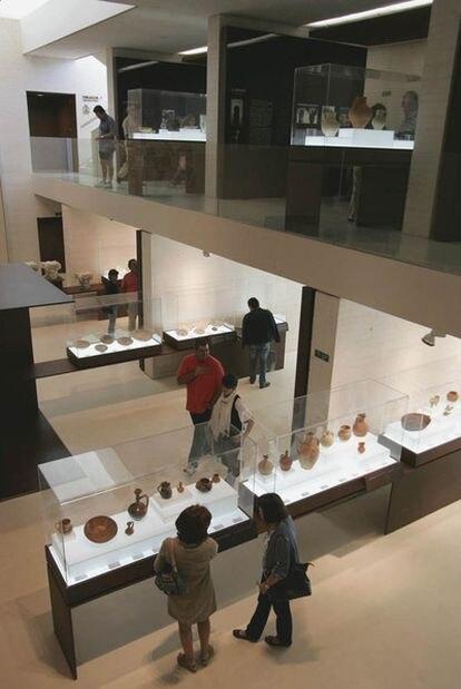 Inauguración del museo de Medina Azahara (Córdoba), en 2009.
